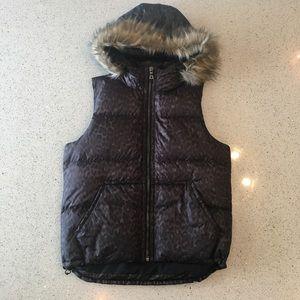 Coach Leopard Print Puffer Vest